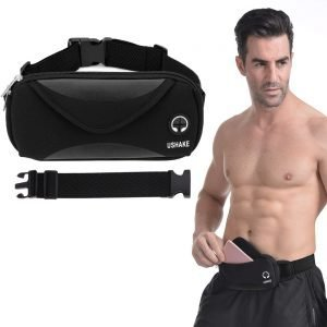 black Adjustable Belts Sports Waist Pack