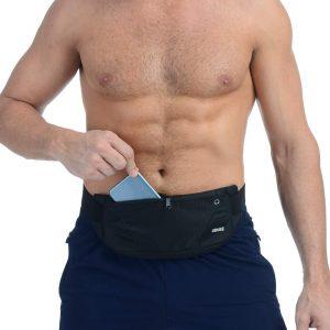 Men'sblack Running Waist Pouch Bag