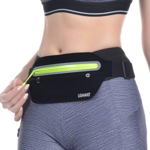 Womens Money Belt With Reflective Stripes